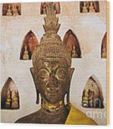 Vientiane Buddha 2 Wood Print