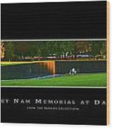 Viet Nam Memorial Wall With Border Wood Print