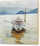 Vietnam Boat Wood Print