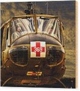 Vietnam Era Medivac 369 Helicopter Wood Print