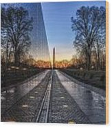Vietnam Veterans Memorial Wood Print