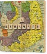 Vietnam War Map Wood Print