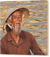 Vietnamese Boatman 02 Wood Print