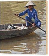 Vietnamese Boatwoman 01 Wood Print