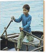 Vietnamese Boy Wood Print