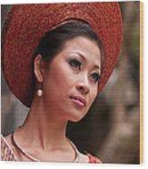 Vietnamese Bride 09 Wood Print