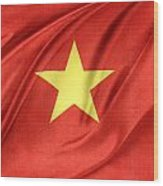 Vietnamese Flag Wood Print