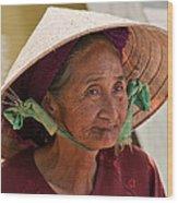 Vietnamese Lady Wood Print