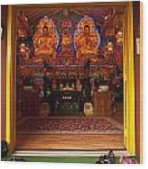 Vietnamese Temple Shrine Wood Print