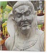Vietnamese Temple Statue Wood Print