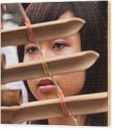 Vietnamese T'rung Player Wood Print