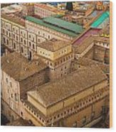 View Above Downtown Of Rome Wood Print
