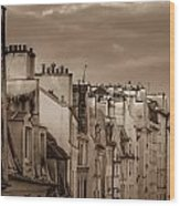 View Down Rue Beauregard Wood Print