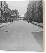 View East On 78th Street Wood Print