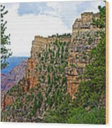 View Four From Walhalla Overlook On North Rim Of Grand Canyon-arizona Wood Print