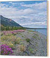 View Four Kluane Lake From Cottonwood Campground Near Destruction Bay-yk Wood Print