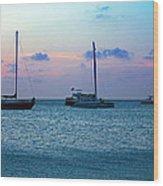 View From A Catamaran3 - Aruba Wood Print