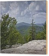View From A Mountain In A Vermont Wood Print