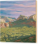 View From Airport Mesa - Sedona Wood Print