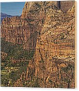 View From Angel's Landing 2 Wood Print