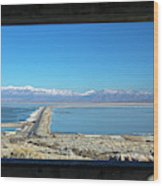 View From Antelope Island Wood Print
