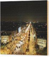 View From Arc De Triomphe - Paris France - 011318 Wood Print