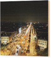 View From Arc De Triomphe - Paris France - 011319 Wood Print by DC Photographer