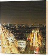 View From Arc De Triomphe - Paris France - 01138 Wood Print by DC Photographer