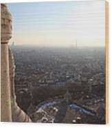 View From Basilica Of The Sacred Heart Of Paris - Sacre Coeur - Paris France - 011310 Wood Print