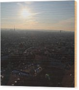 View From Basilica Of The Sacred Heart Of Paris - Sacre Coeur - Paris France - 011313 Wood Print