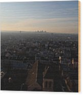 View From Basilica Of The Sacred Heart Of Paris - Sacre Coeur - Paris France - 011317 Wood Print
