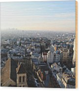 View From Basilica Of The Sacred Heart Of Paris - Sacre Coeur - Paris France - 011320 Wood Print