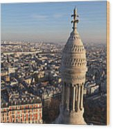 View From Basilica Of The Sacred Heart Of Paris - Sacre Coeur - Paris France - 011332 Wood Print