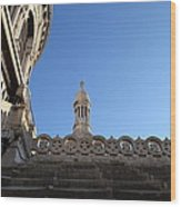 View From Basilica Of The Sacred Heart Of Paris - Sacre Coeur - Paris France - 01134 Wood Print