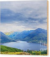 View From Bealach Ratagan To The Five Sisters Of Kintail Wood Print