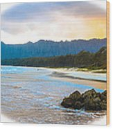 View From Bellows At Kaneohe Wood Print