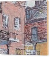 View From Cafe Du Monde Wood Print