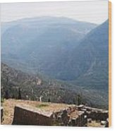View From Delphi 2 Wood Print