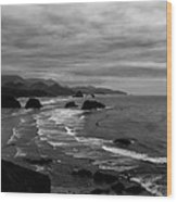 View From Ecola Park Wood Print