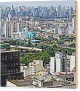 View From Edificio Martinelli 2 - Sao Paulo Wood Print