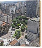View From Edificio Martinelli 3 - Sao Pulo Wood Print
