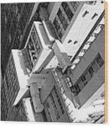 View From Edificio Martinelli Bw - Sao Paulo Wood Print