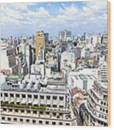 View From Edificio Martinelli - Sao Paulo Wood Print