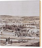 View From Gambles Hill, Richmond Wood Print