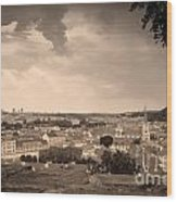 View From Hradcany Of Mala Strana Wood Print