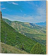 View From Knife Edge Road Overlooking Montezuma Valley In Mesa Verde National Park-colorado   Wood Print