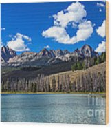 View From Little Redfish Lake Wood Print