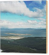 View From Martial Glacier, Ushuaia Wood Print