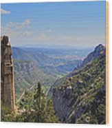 View From Montserrat Mountain Wood Print