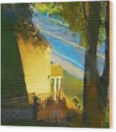 View From My Window On A Summer Afternoon  B-12 Wood Print